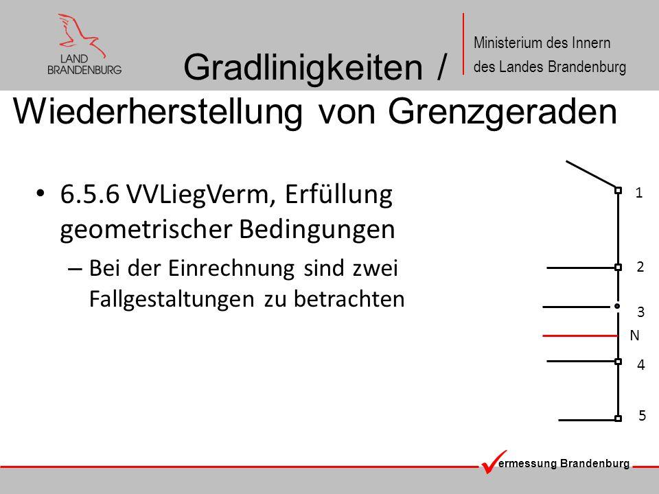 Gradlinigkeiten / Wiederherstellung von Grenzgeraden