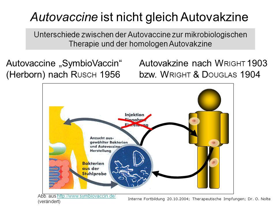 Autovaccine ist nicht gleich Autovakzine