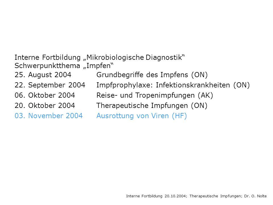 "Interne Fortbildung ""Mikrobiologische Diagnostik"