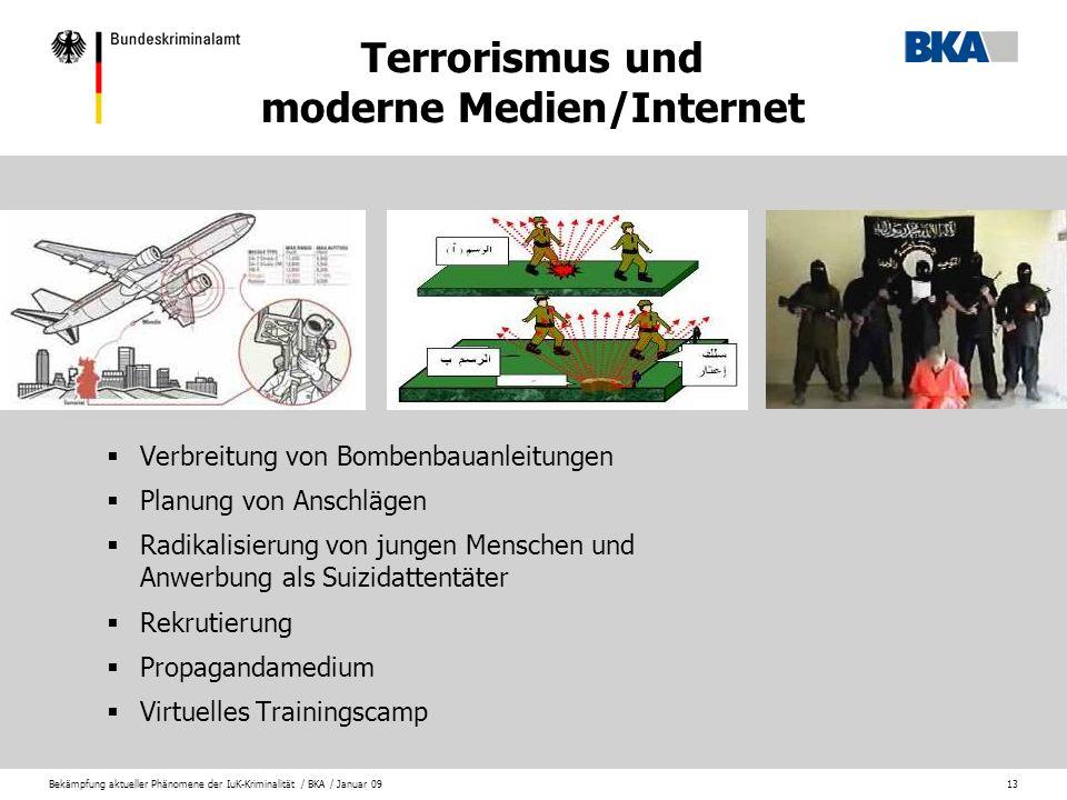 Terrorismus und moderne Medien/Internet