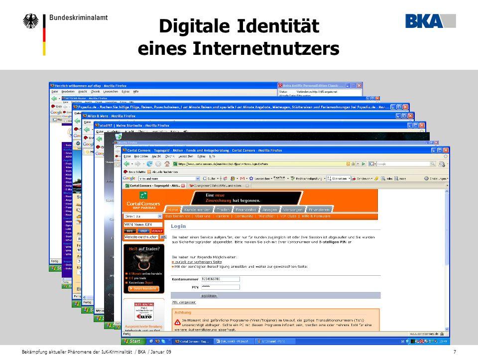 Digitale Identität eines Internetnutzers