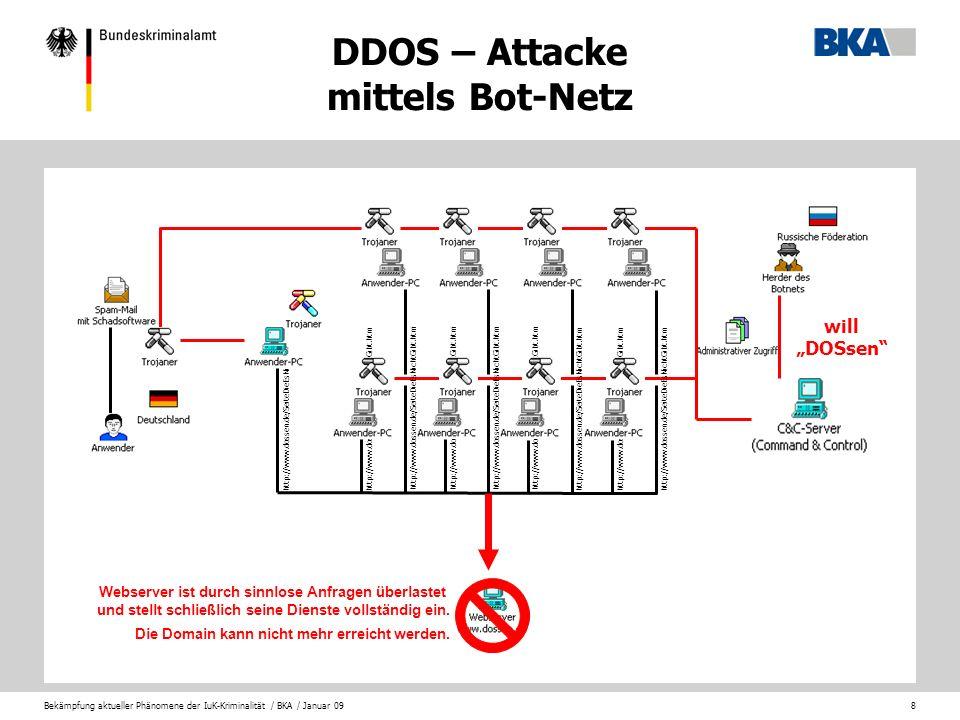 DDOS – Attacke mittels Bot-Netz
