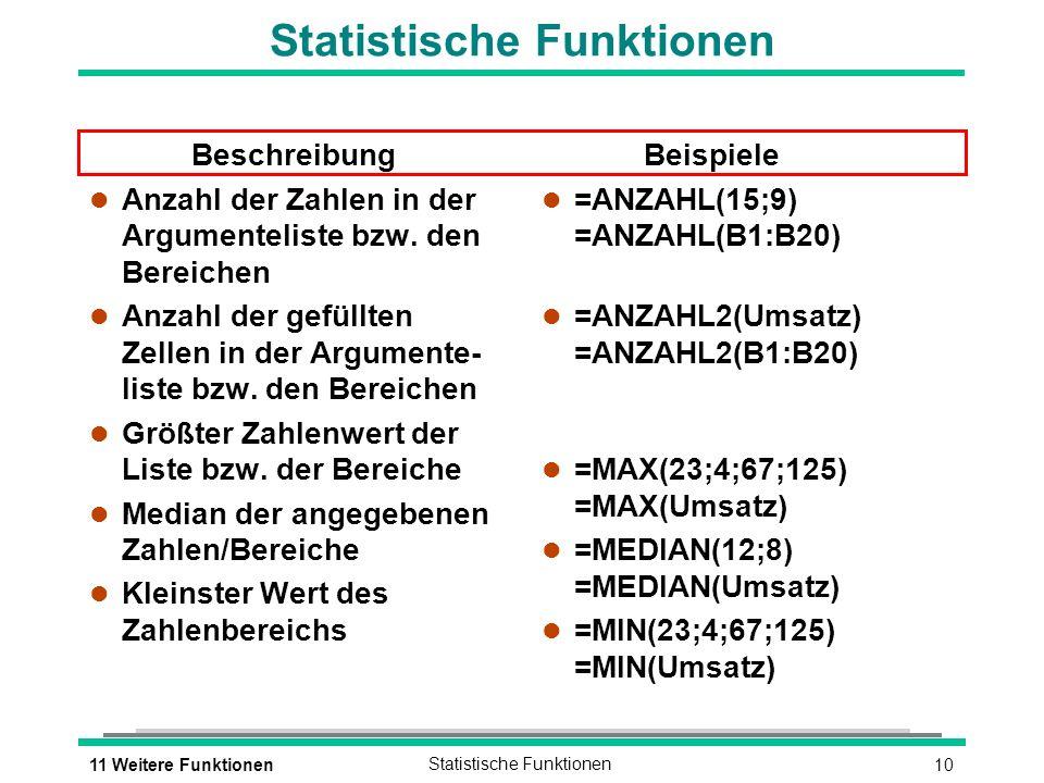Statistische Funktionen