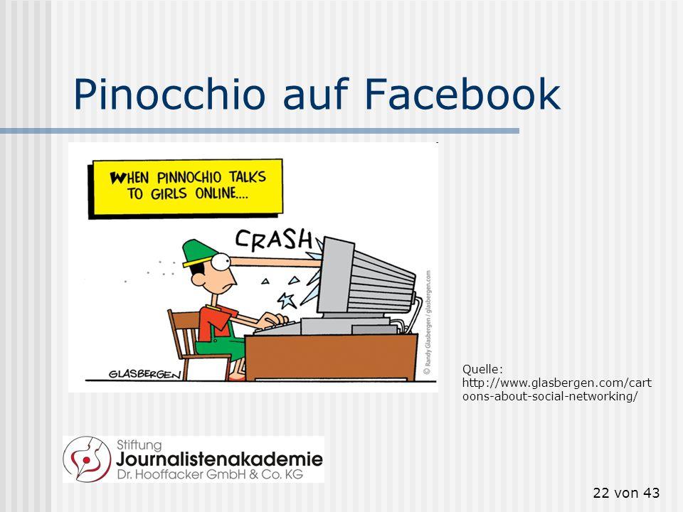 Pinocchio auf Facebook