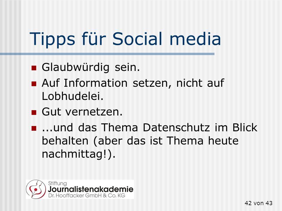 Tipps für Social media Glaubwürdig sein.
