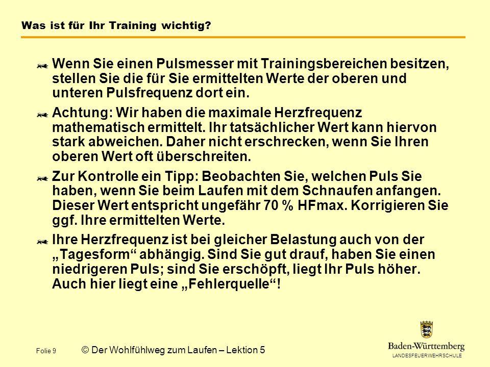 Was ist für Ihr Training wichtig