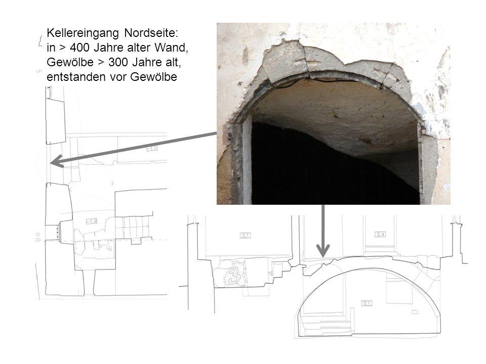 Kellereingang Nordseite: