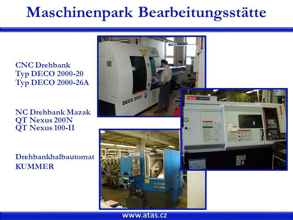 Maschinenpark Bearbeitungsstätte