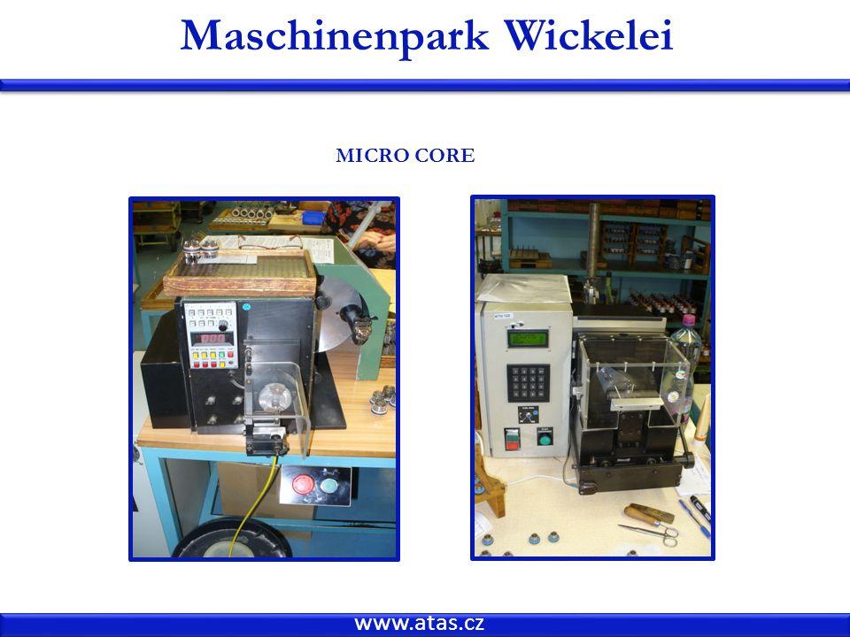 Maschinenpark Wickelei