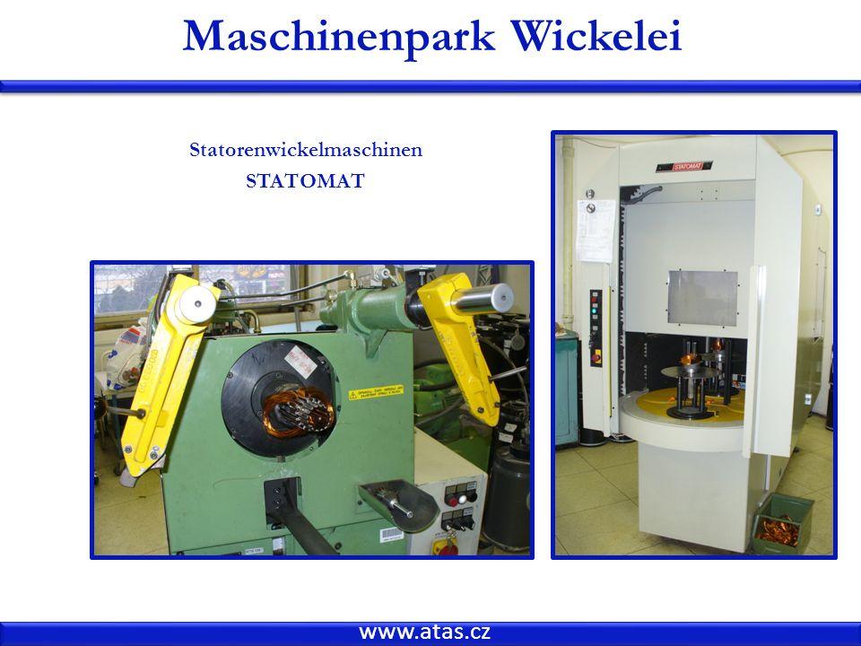 Maschinenpark Wickelei Statorenwickelmaschinen