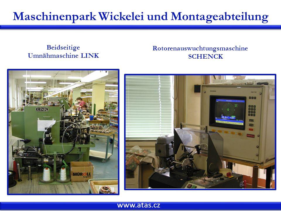 Maschinenpark Wickelei und Montageabteilung