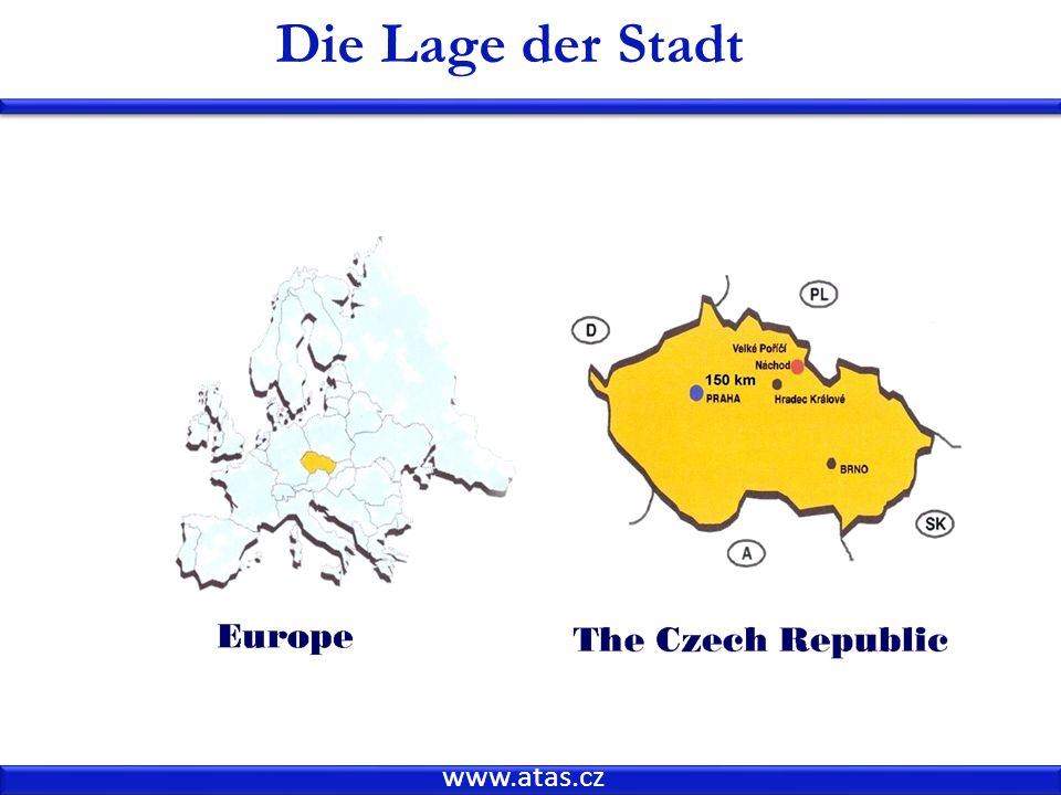 Die Lage der Stadt www.atas.cz