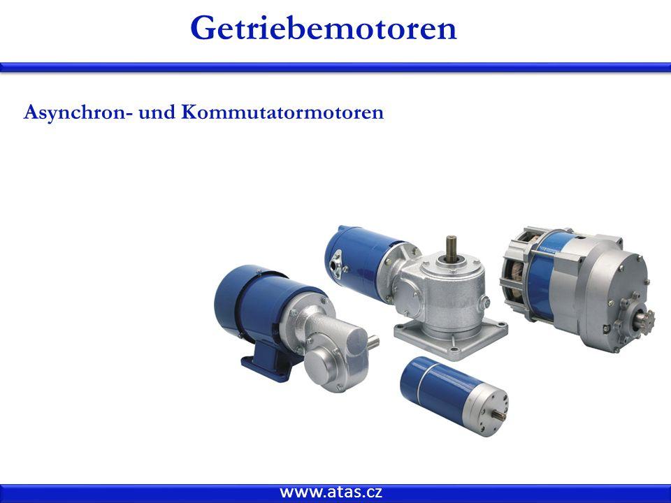 Getriebemotoren Asynchron- und Kommutatormotoren www.atas.cz