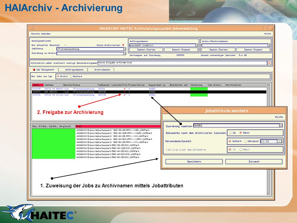HAIArchiv - Archivierung