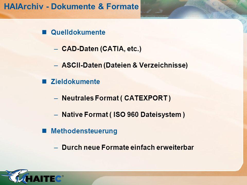 HAIArchiv - Dokumente & Formate