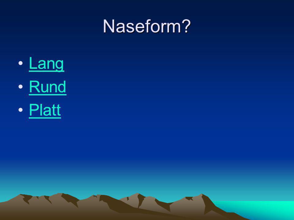 Naseform Lang Rund Platt