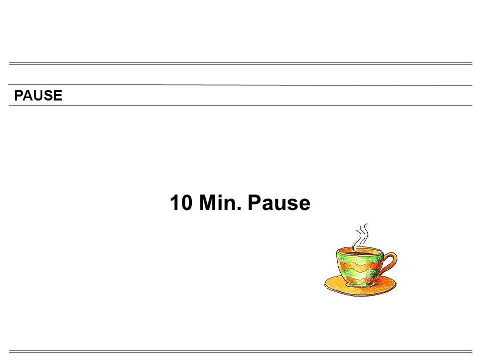 PAUSE 10 Min. Pause 15