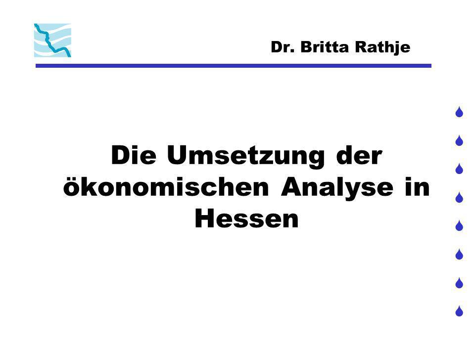 Die Umsetzung der ökonomischen Analyse in Hessen