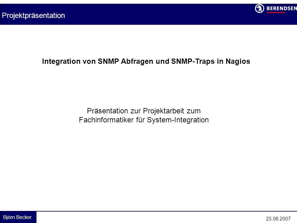 Integration von SNMP Abfragen und SNMP-Traps in Nagios