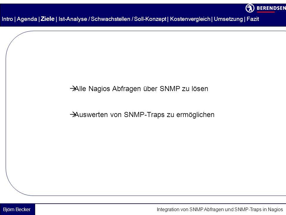 Alle Nagios Abfragen über SNMP zu lösen