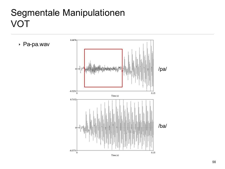 Segmentale Manipulationen VOT