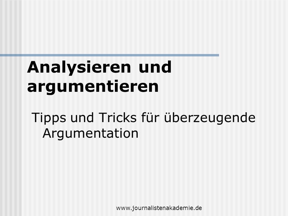Analysieren und argumentieren