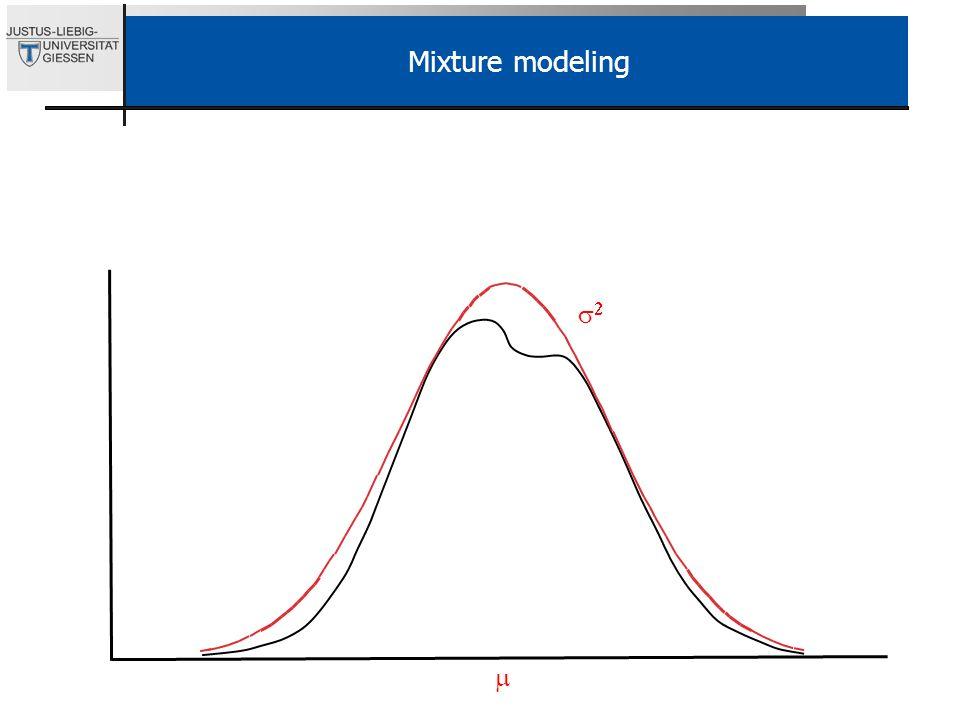 Mixture modeling s2. Mit der LPA und der Verwendung kontinuierlicher Indikatoren sind wir schon mittendring im eigentlichen Mixture modeling Thema.