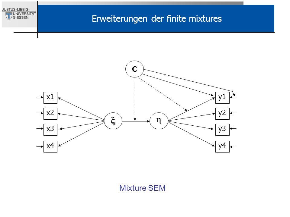 Erweiterungen der finite mixtures