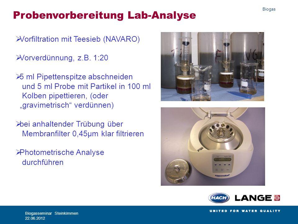 Probenvorbereitung Lab-Analyse