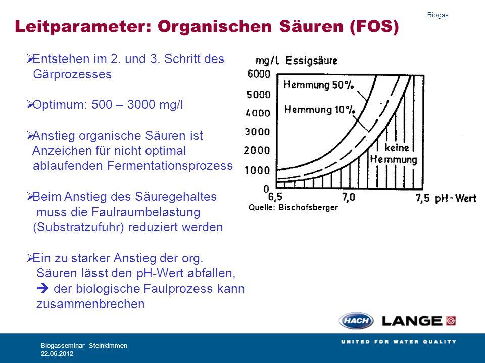 Leitparameter: Organischen Säuren (FOS)