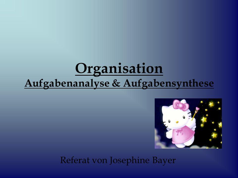 Organisation Aufgabenanalyse & Aufgabensynthese