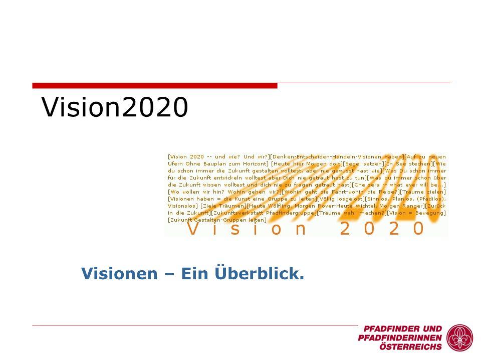 Vision2020 Visionen – Ein Überblick.