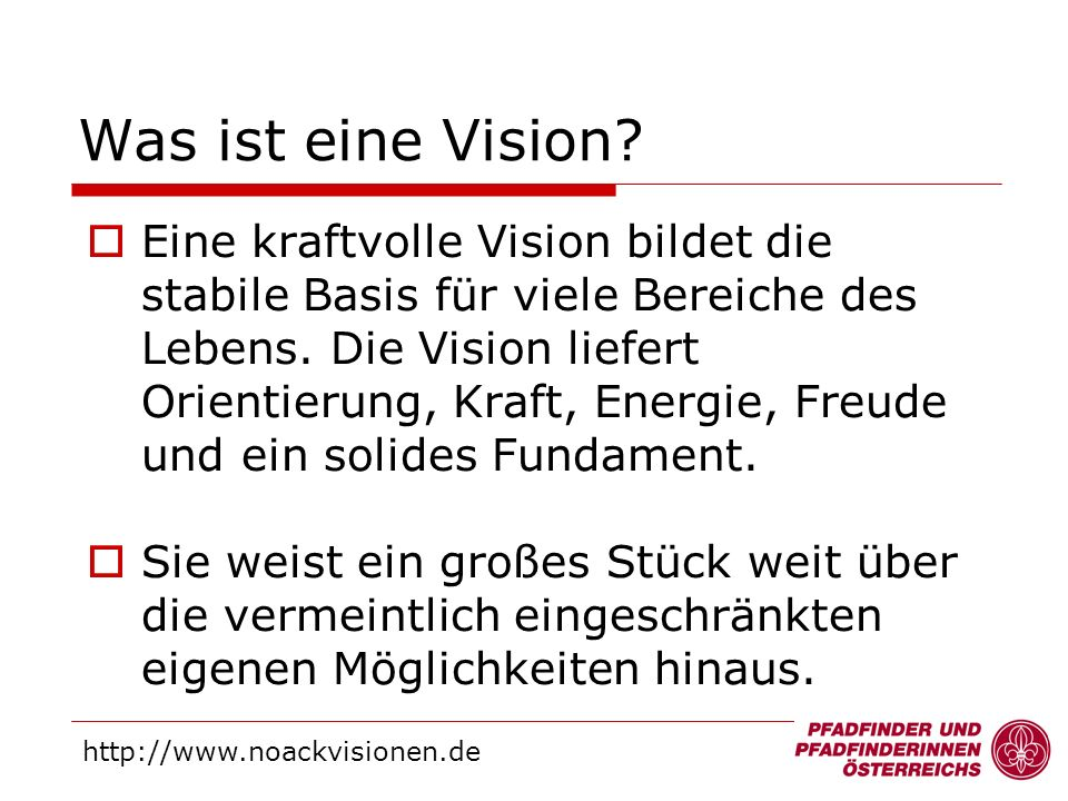 Was ist eine Vision