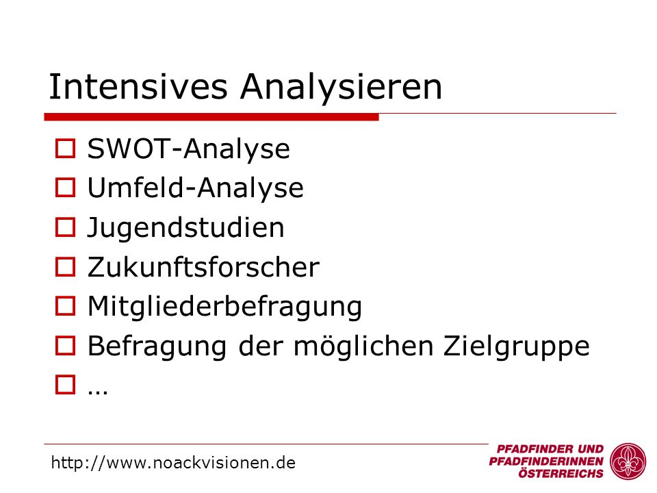 Intensives Analysieren