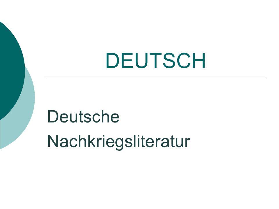 Deutsche Nachkriegsliteratur
