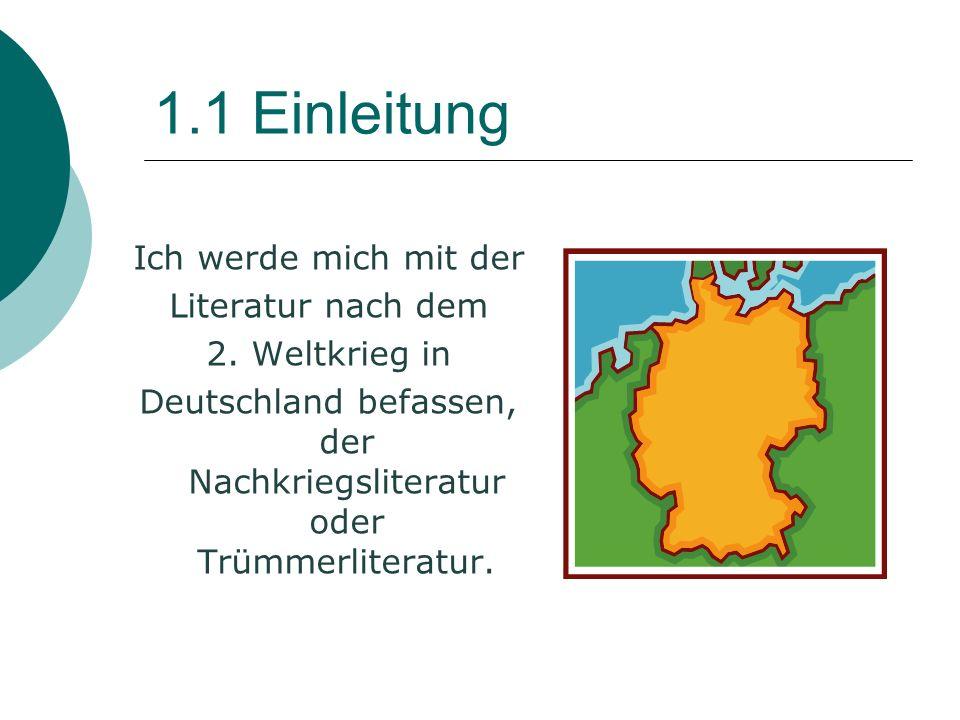 Deutschland befassen, der Nachkriegsliteratur oder Trümmerliteratur.