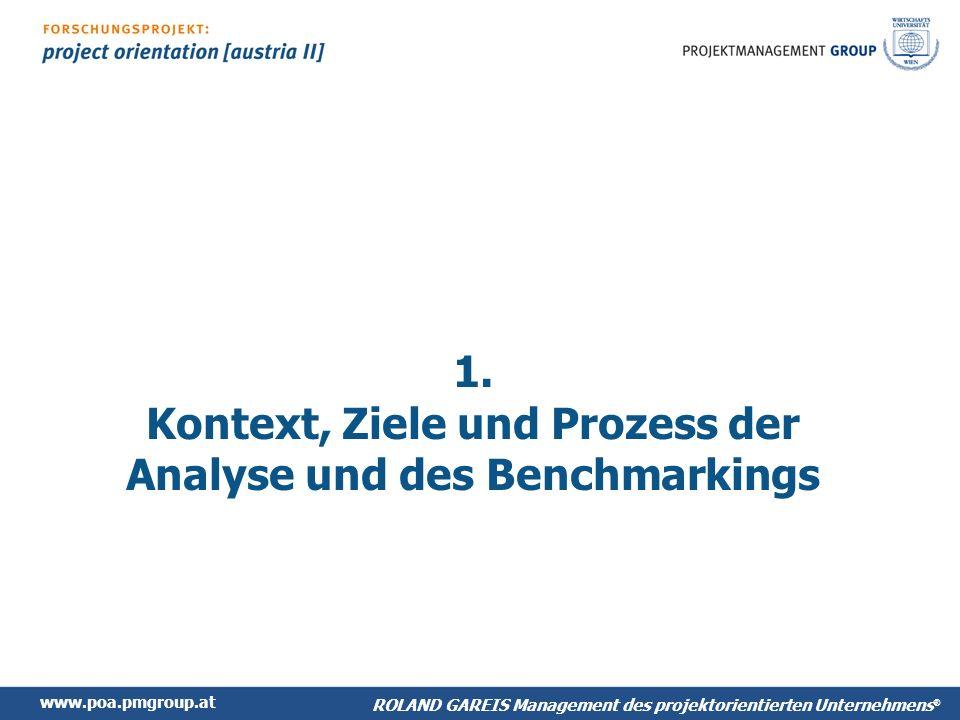 1. Kontext, Ziele und Prozess der Analyse und des Benchmarkings