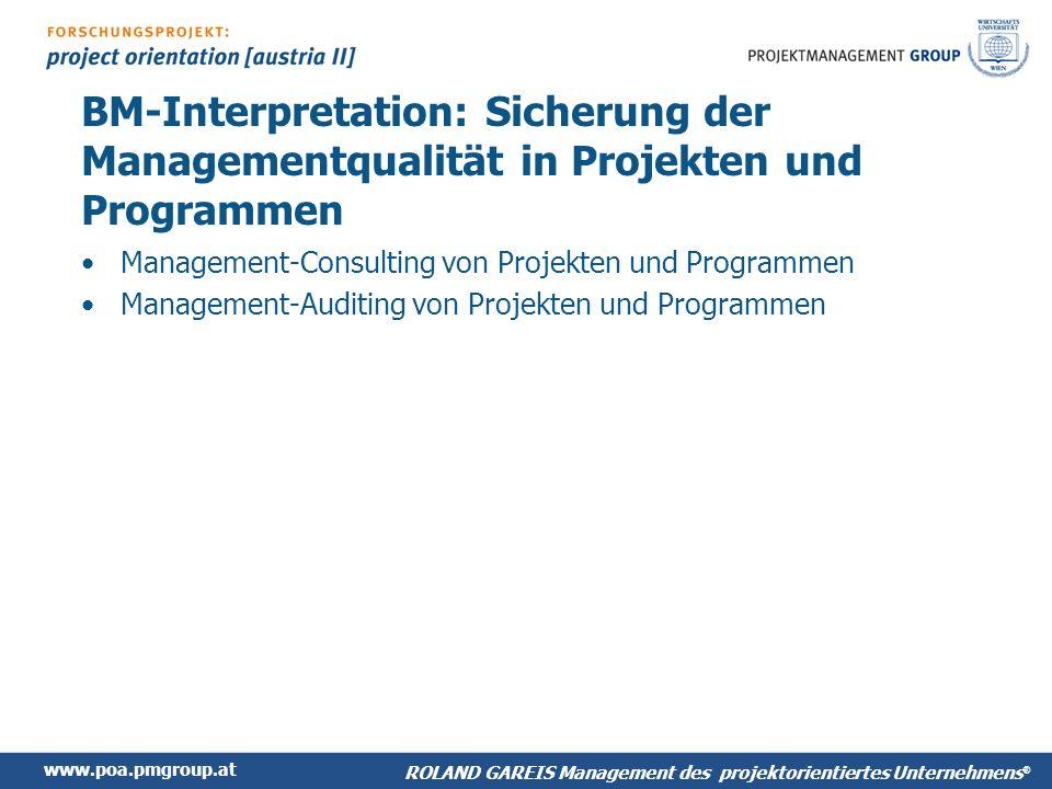 BM-Interpretation: Sicherung der Managementqualität in Projekten und Programmen