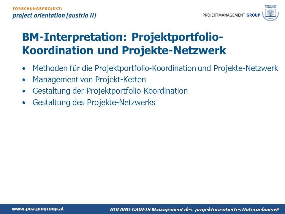 BM-Interpretation: Projektportfolio-Koordination und Projekte-Netzwerk