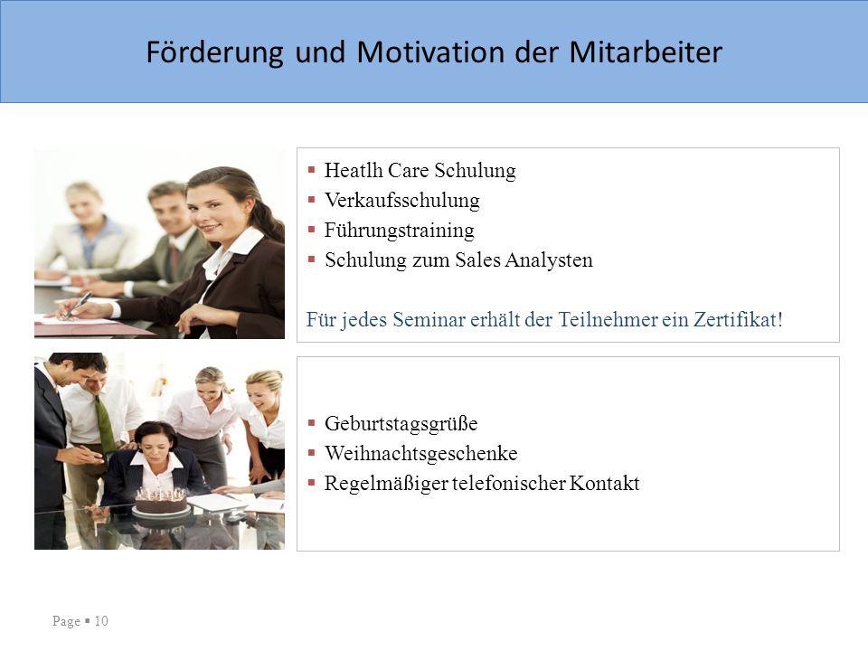 Förderung und Motivation der Mitarbeiter