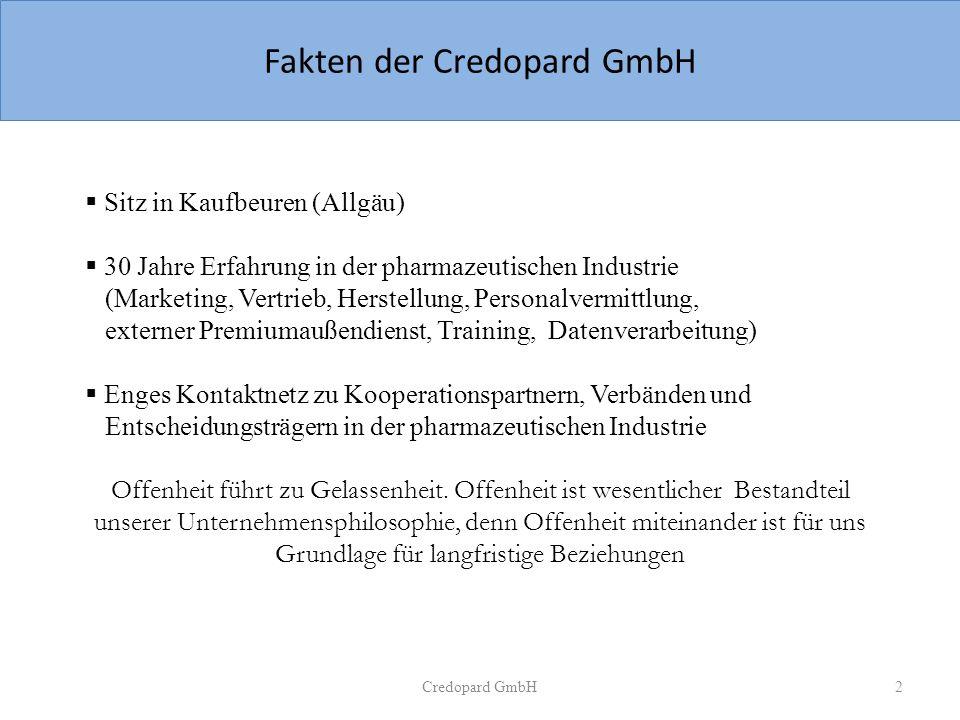 Fakten der Credopard GmbH