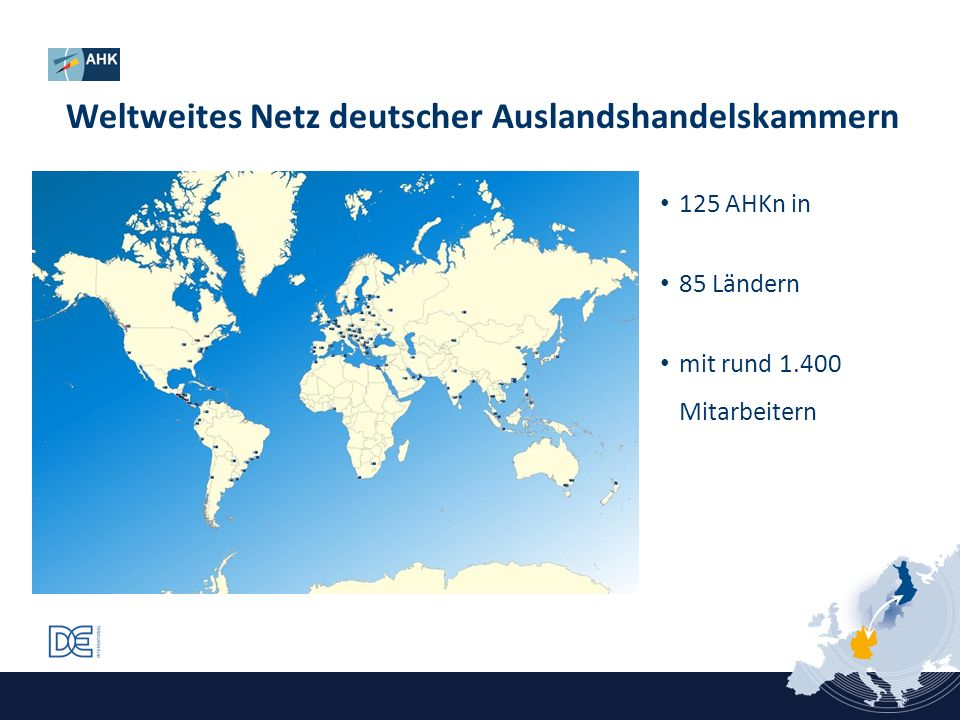 Weltweites Netz deutscher Auslandshandelskammern