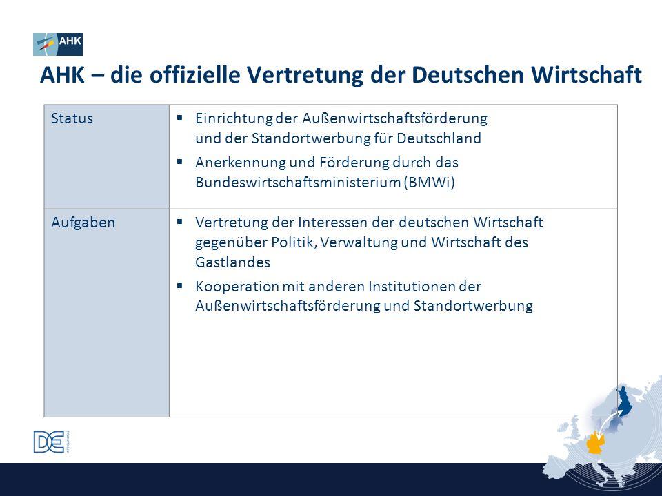 AHK – die offizielle Vertretung der Deutschen Wirtschaft