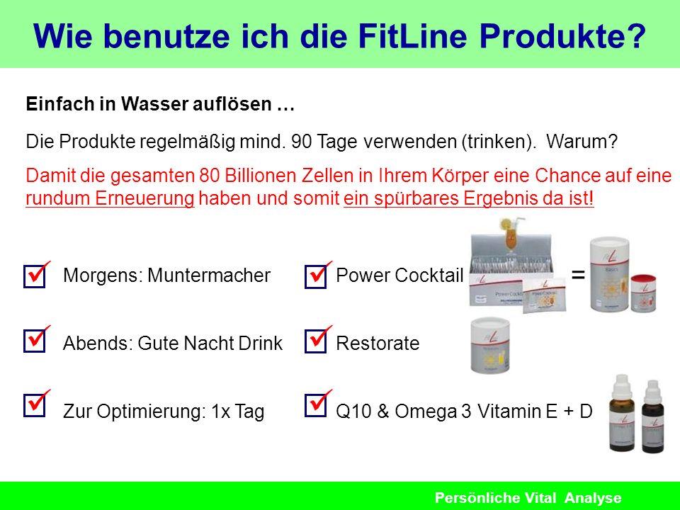 Wie benutze ich die FitLine Produkte