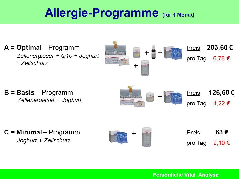 Allergie-Programme (für 1 Monat)