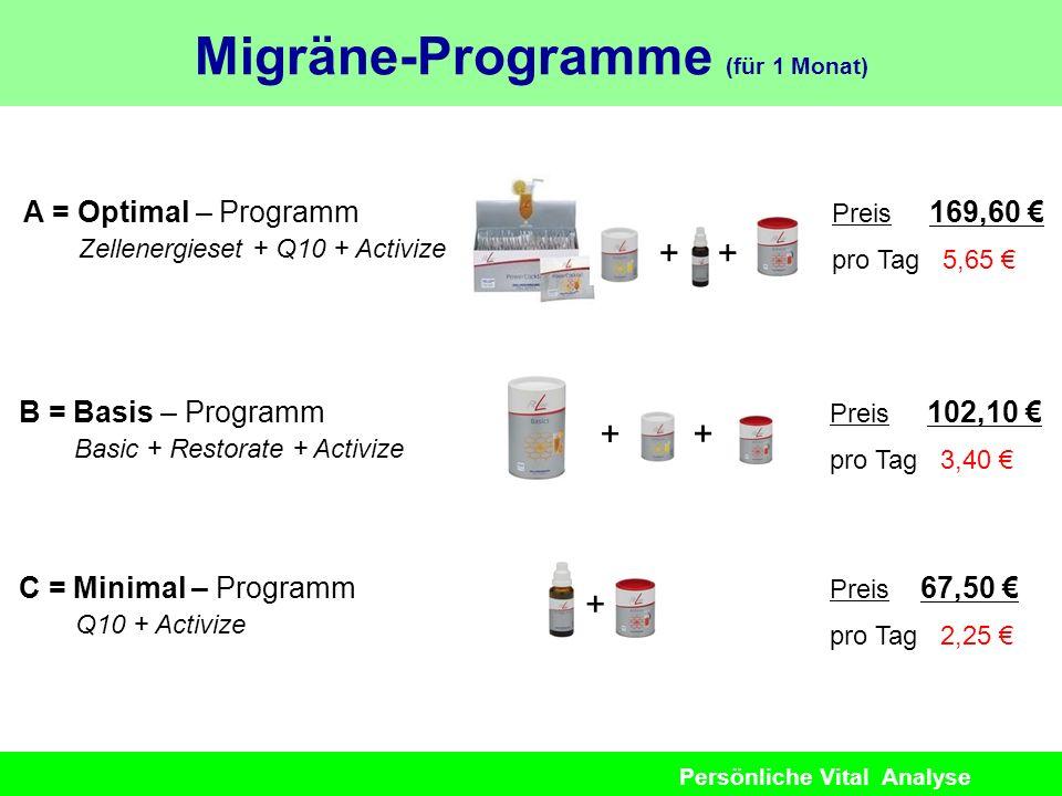 Migräne-Programme (für 1 Monat)