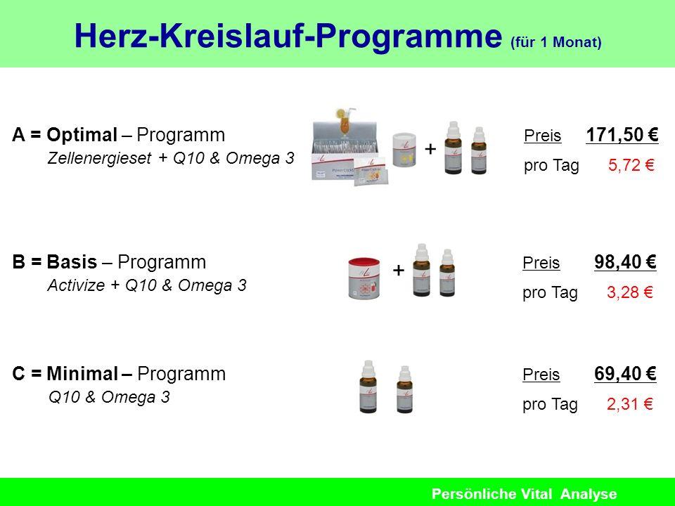 Herz-Kreislauf-Programme (für 1 Monat)