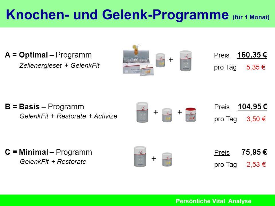 Knochen- und Gelenk-Programme (für 1 Monat)