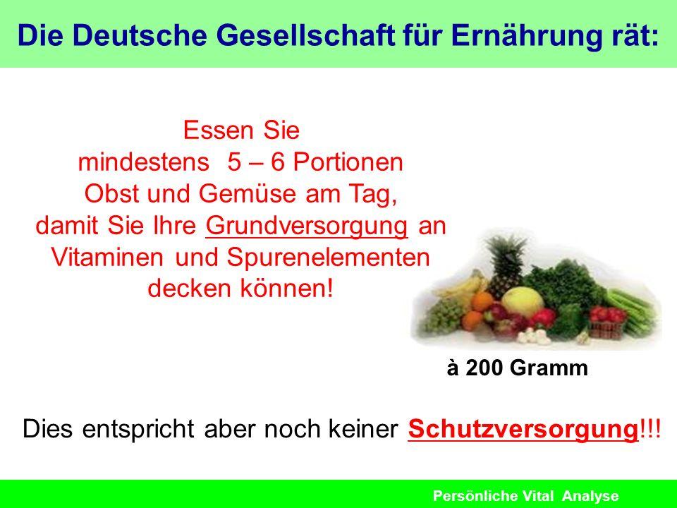 Die Deutsche Gesellschaft für Ernährung rät: