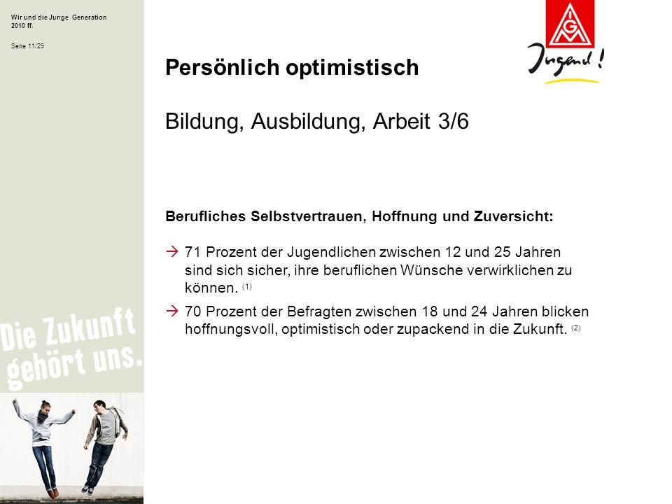 Persönlich optimistisch Bildung, Ausbildung, Arbeit 3/6